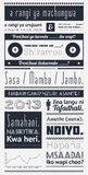 Typografia z elementami infographics Fotografia Stock