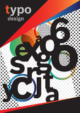 Typografibroschyrdesign Fotografering för Bildbyråer