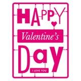 Typograficzna valentines dnia karta Fotografia Royalty Free
