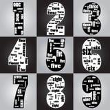Typograficzny liczba Obrazy Stock