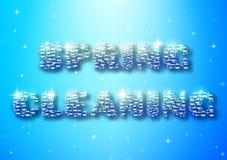 Typograficzny plakat z wiosny cleaning bąblem Obraz Royalty Free