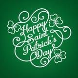 Typograficzny projekta szablon dla świętego Patrick ` s dnia Obraz Stock