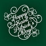 Typograficzny projekta szablon dla świętego Patrick ` s dnia Fotografia Stock