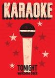 Typograficzny retro grunge karaoke plakat również zwrócić corel ilustracji wektora Obrazy Stock