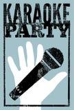 Typograficzny retro grunge karaoke przyjęcia plakat również zwrócić corel ilustracji wektora Obraz Royalty Free