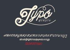 TYPOGRAFIdesignstilsort för dig Fotografering för Bildbyråer