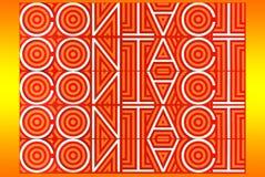 Typografidiagram av ordet: Kontakt royaltyfria bilder