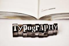 Typografie Royalty-vrije Stock Afbeeldingen