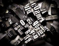 Typografie Lizenzfreies Stockfoto