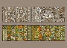 Typografie des abstrakten Begriffs Stammes- stock abbildung