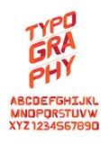 TYPOGRAFIE Designguß für Sie Lizenzfreies Stockbild