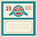 Typografie en het ornament van de Kerstmisuitnodiging retro Stock Afbeelding