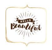 Typografie für Plakat, Einladung, Grußkarte oder T-Shirt lizenzfreie abbildung