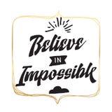Typografie für T-Shirt oder Sweatshirtdrucken und -stickerei Druck für T-Stück Inspirierend Zitat, Motivation Stockfotografie