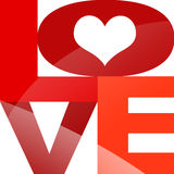 Typografie LOVE with heart Royalty Free Stock Images