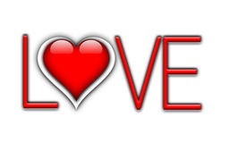 Typografie LOVE with white background Royalty Free Stock Images