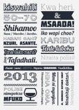 Typografie mit Elementen von infographics Stockfoto