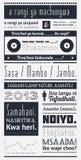 Typografie mit Elementen von infographics Stockfotografie
