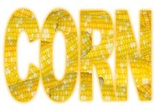 Typografie mit Mais-Beschaffenheit Lizenzfreie Stockfotos