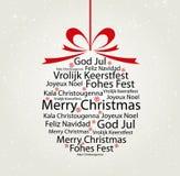 Typografie-Weihnachtskugel Lizenzfreie Stockfotos