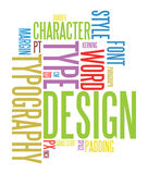 Typografiehintergrund Stockbild