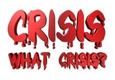 Typografiekrise des Designs 3D welche Krise Stockbilder