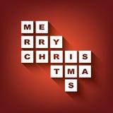 Typografiepostkarten-Konzeptdesign der frohen Weihnachten Lizenzfreie Stockbilder