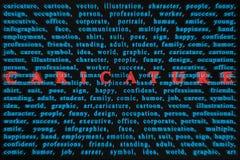 Typografiewörter Lizenzfreies Stockfoto