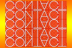 Typografii grafika słowo: Kontakt obrazy royalty free