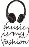 Typografii muzyka jest mój modą Zdjęcie Royalty Free