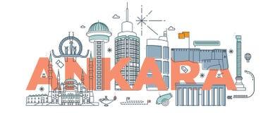 Typografii słowa ` Ankara ` oznakuje technologii pojęcie ilustracja wektor