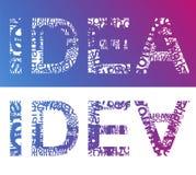 Typografisch IDEE Stock Afbeelding