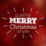 Typografisch Kerstmisontwerp/Vrolijke Kerstmis Royalty-vrije Stock Fotografie