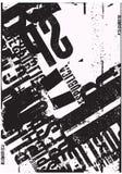 Typografische achtergrond Royalty-vrije Stock Foto's