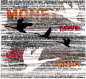 Typografische achtergrond Stock Afbeeldingen