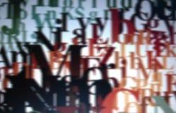 Typografische achtergrond Stock Afbeelding