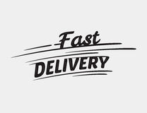 Typografische Aufschrift der schnellen Lieferung Vektor Abbildung