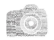 Typografische camera SLR. Stock Foto's