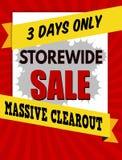 Typografische Designschablone Storewide-Verkaufs Lizenzfreie Stockfotos