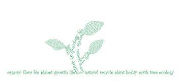 Typografische ecologie stock illustratie