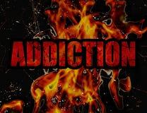Typografische het Ontwerpachtergrond van het verslavingsconcept Stock Afbeelding