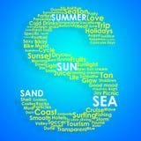 Typografische Konzeptanordnung des Sommers Stockfotografie
