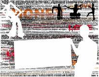 Typografische ontwerpachtergrond Stock Foto