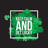 Typografischen St Patrick Tageshintergrund Lizenzfreies Stockfoto