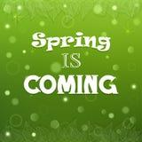 Typografischer Frühlings-Hintergrundvektor Lizenzfreies Stockfoto