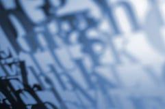 Typografischer Hintergrund Lizenzfreies Stockfoto