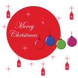 Typografischer Hintergrund mit Weihnachtselementen Stockfotografie