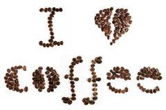 Typografischer Text des Kaffees Lizenzfreie Stockfotografie