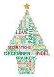 Typografischer Weihnachtsbaum. Lizenzfreies Stockbild