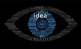 Typografisches Auge Stockbild